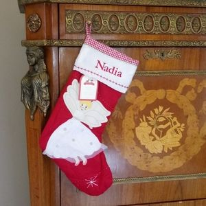 """1209 Pottery Barn Kids """"Nadia"""" Quilted Stocking"""